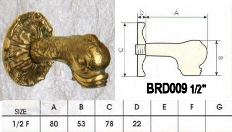 Duck head water spout in brass