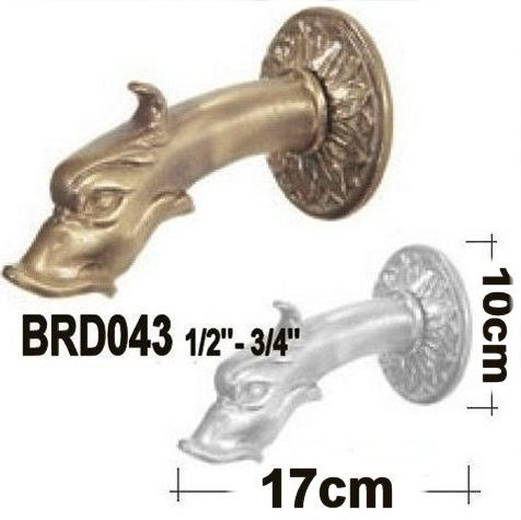 Bronzed water fountain spout