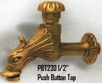 Push Button Bronze Tap