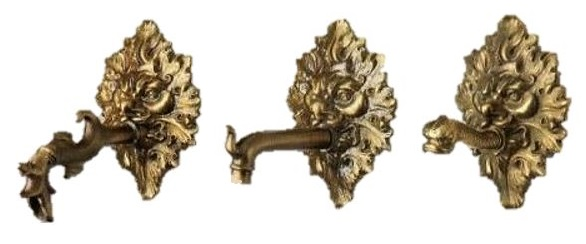 Large Brass Spout Mask