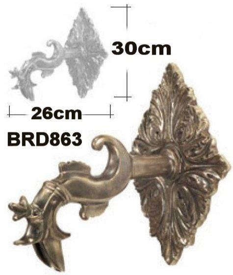 Large Wall Mounted Brass Spout