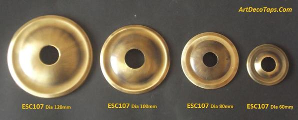 Roundel back plates for taps and spouts
