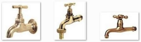 Classic indoor and outdoor brass faucets