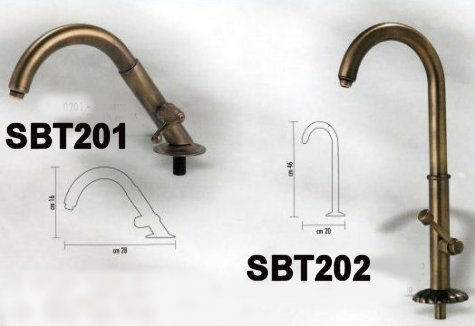 Oil rubbed bronze basin spout for the outdoors