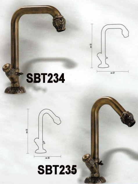 Oil rubbed bronze sink and basin high rise tap