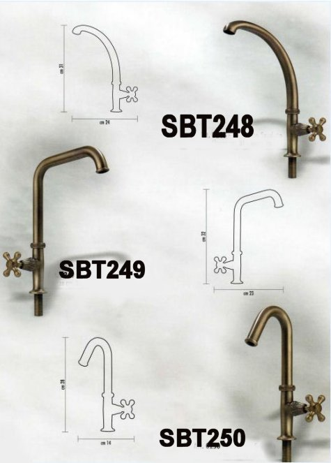 Oil rubbed bronze basin faucets