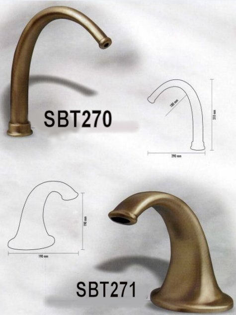 Oil rubbed bronze fountain spout