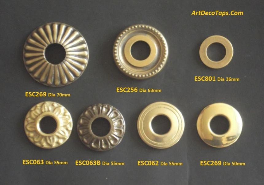 small rosettes for taps and faucets